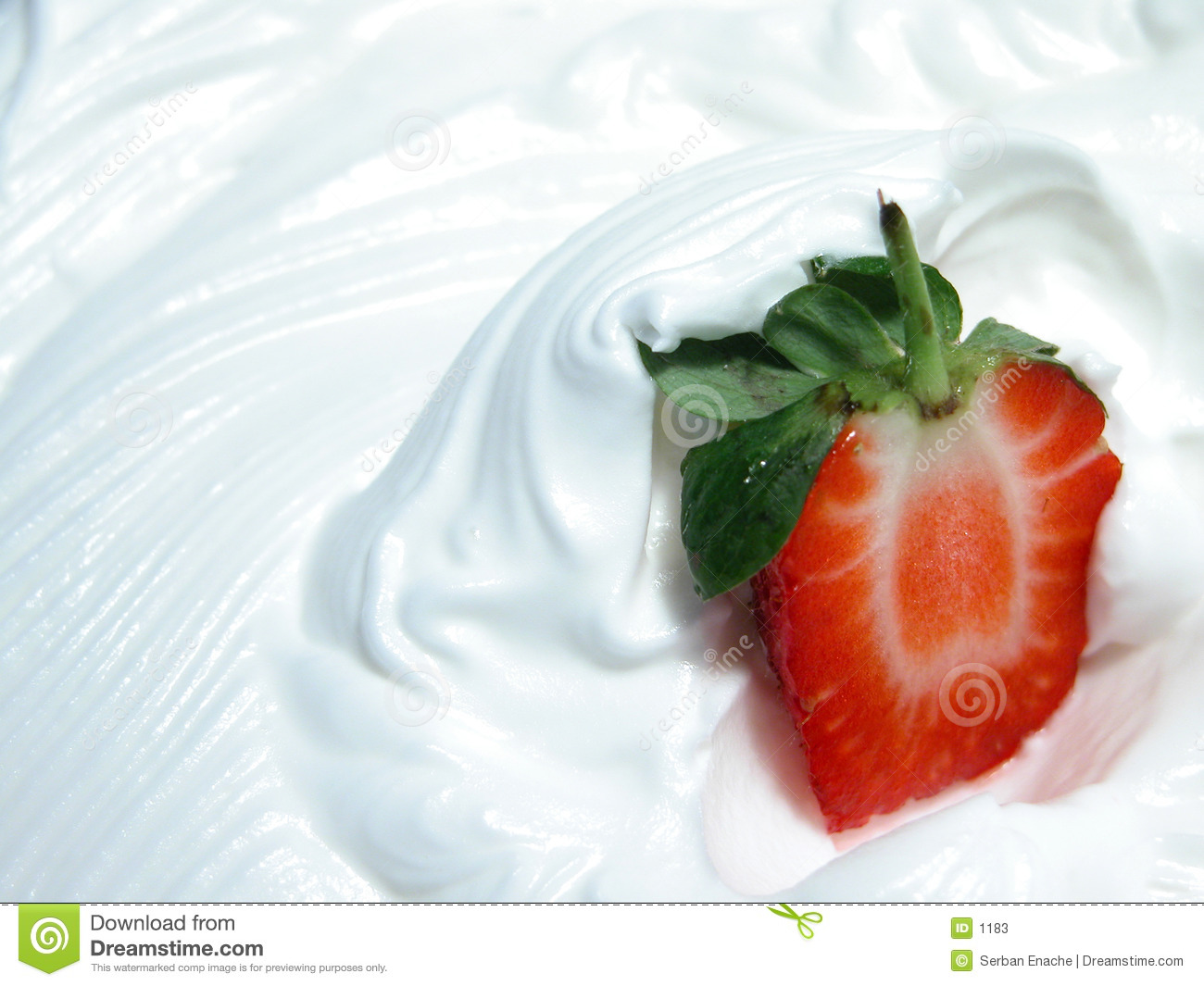 Strawberry on whip