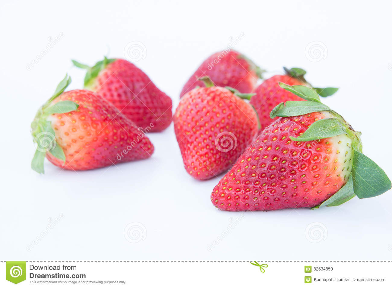 The Strawberry on white background fruit& x27;s healthful cordial, useful