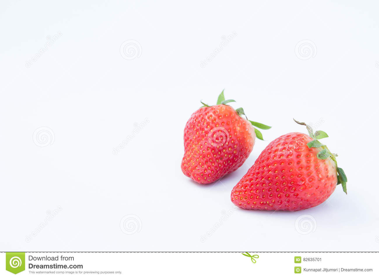 Strawberry on white background fruit& x27;s healthful cordial, useful