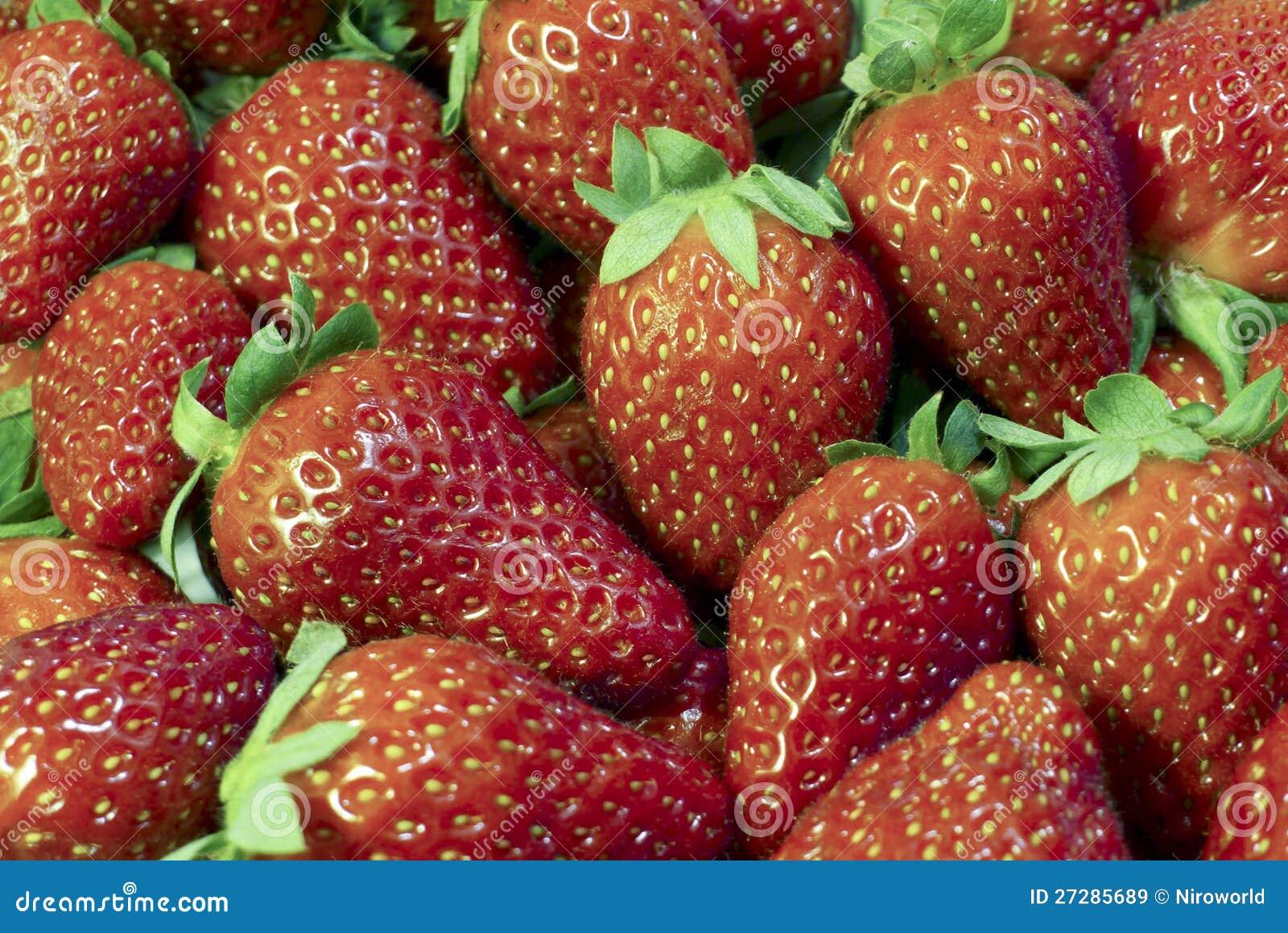 Strawberrys Closeupbakgrund
