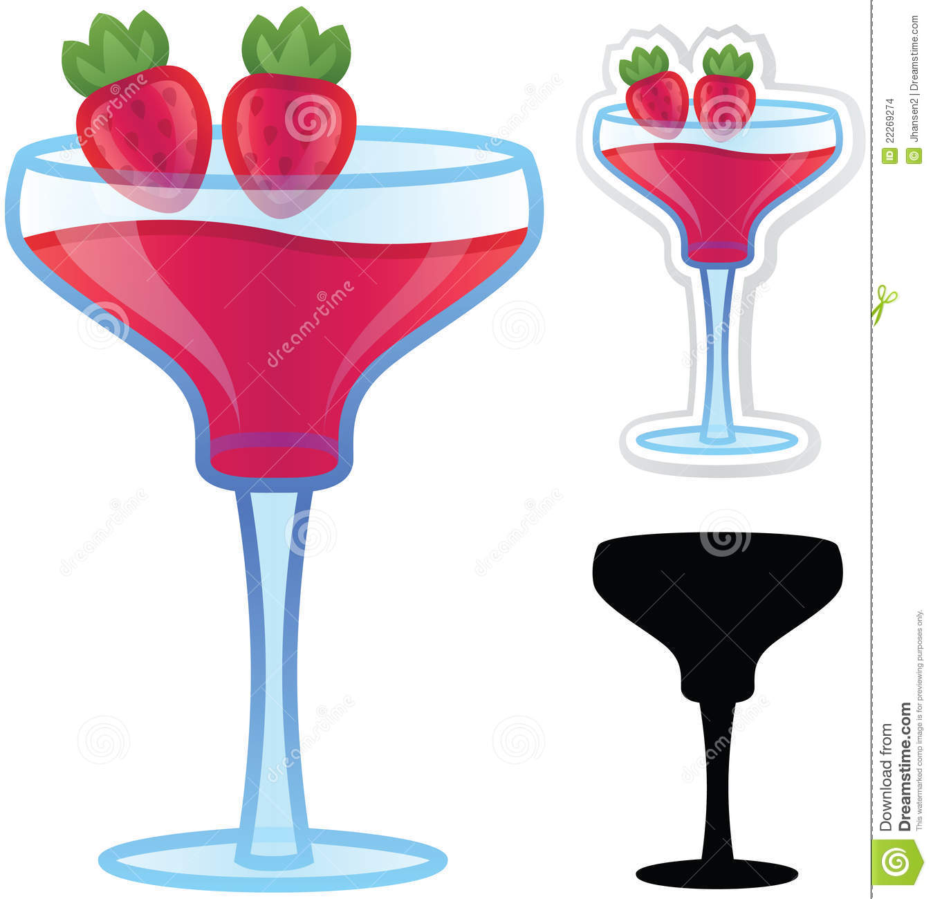 Strawbery Daiquiri Stock Images - Image: 22269274