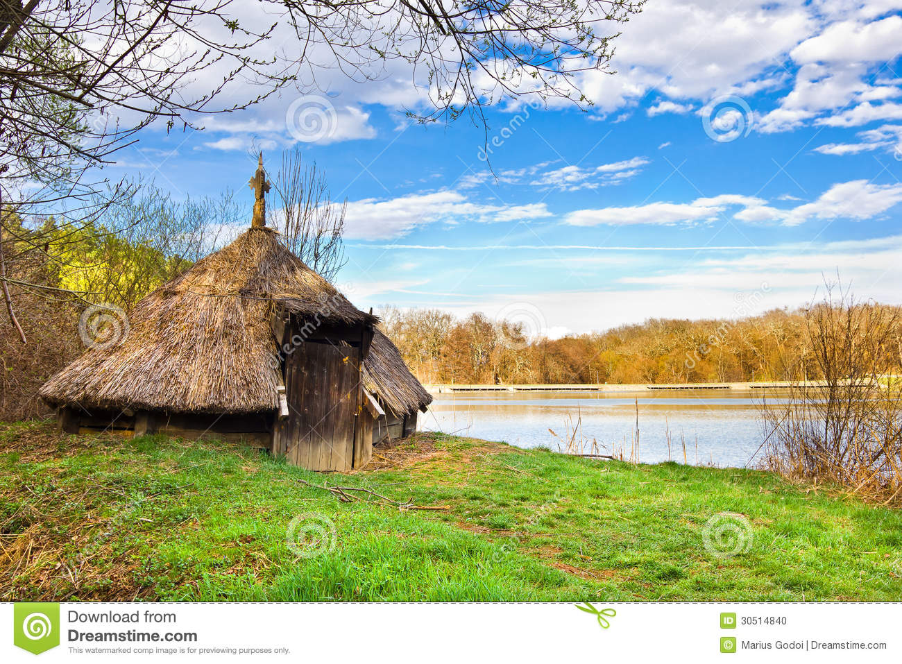 Straws hut near lake stock photo image of outdoors water for Nearby landscapers