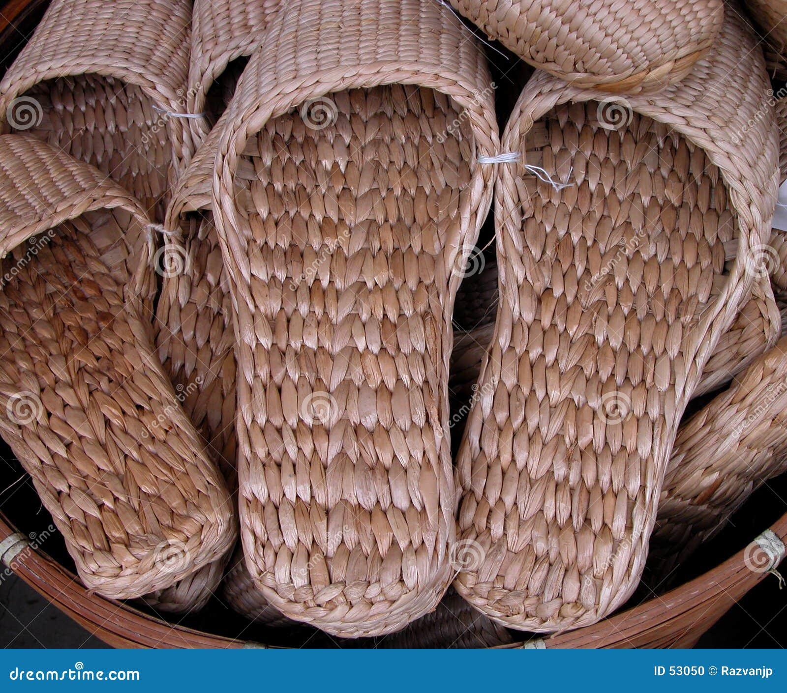 Straws slippers