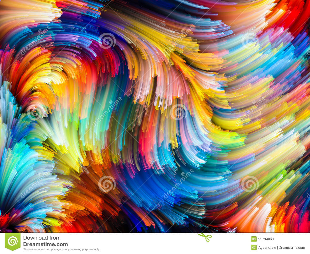 Colour As An Element Of Design : Stream of color stock illustration image swirl