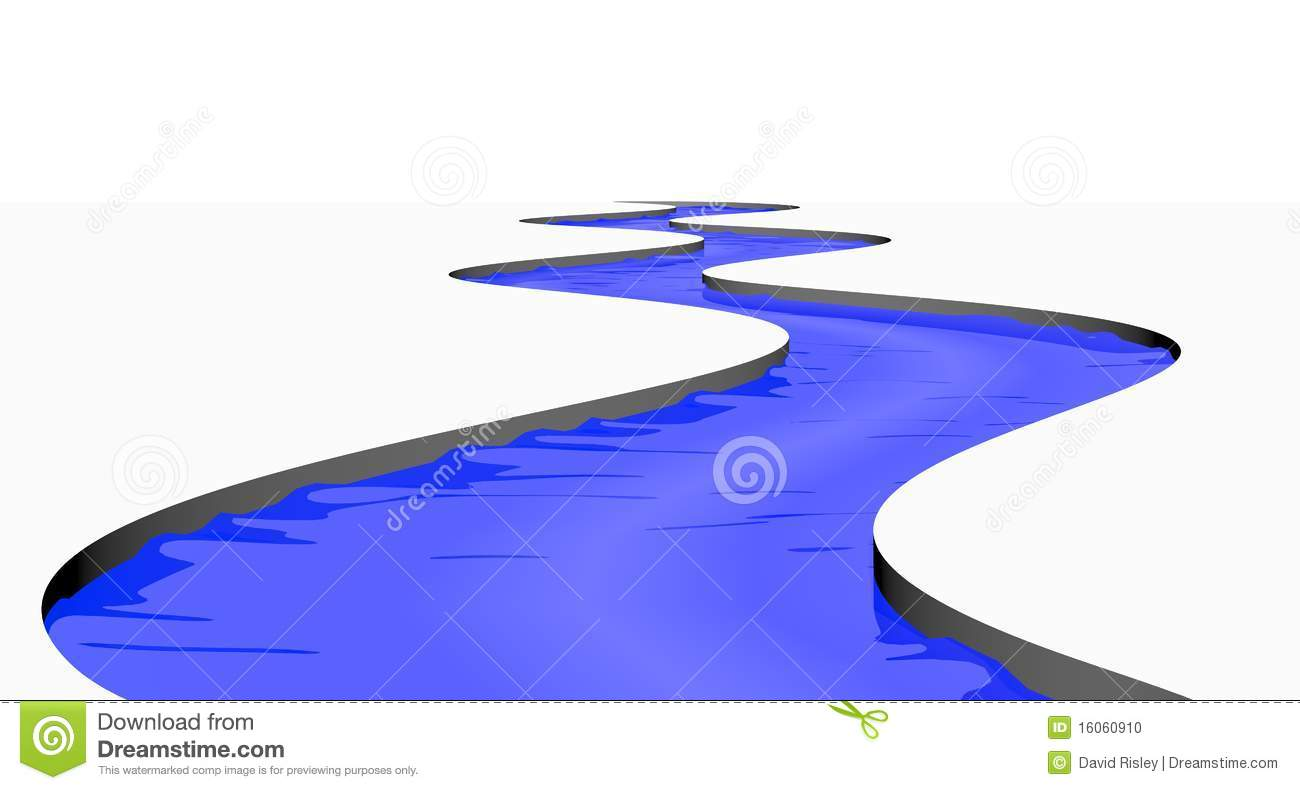 Stream River Isolated Stock Photo - Image: 16060910