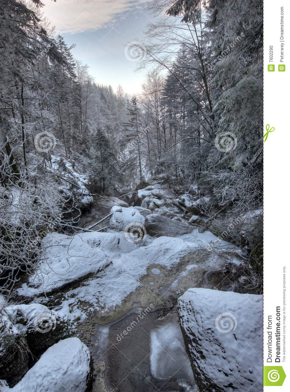 7602290 streambed in winter stock photo. image of stream