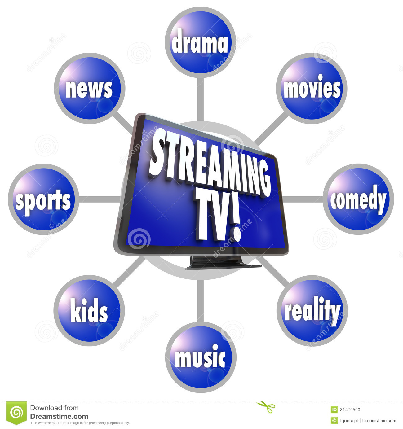 Streaming TV Content Entertainment Programs Movies Sports ...