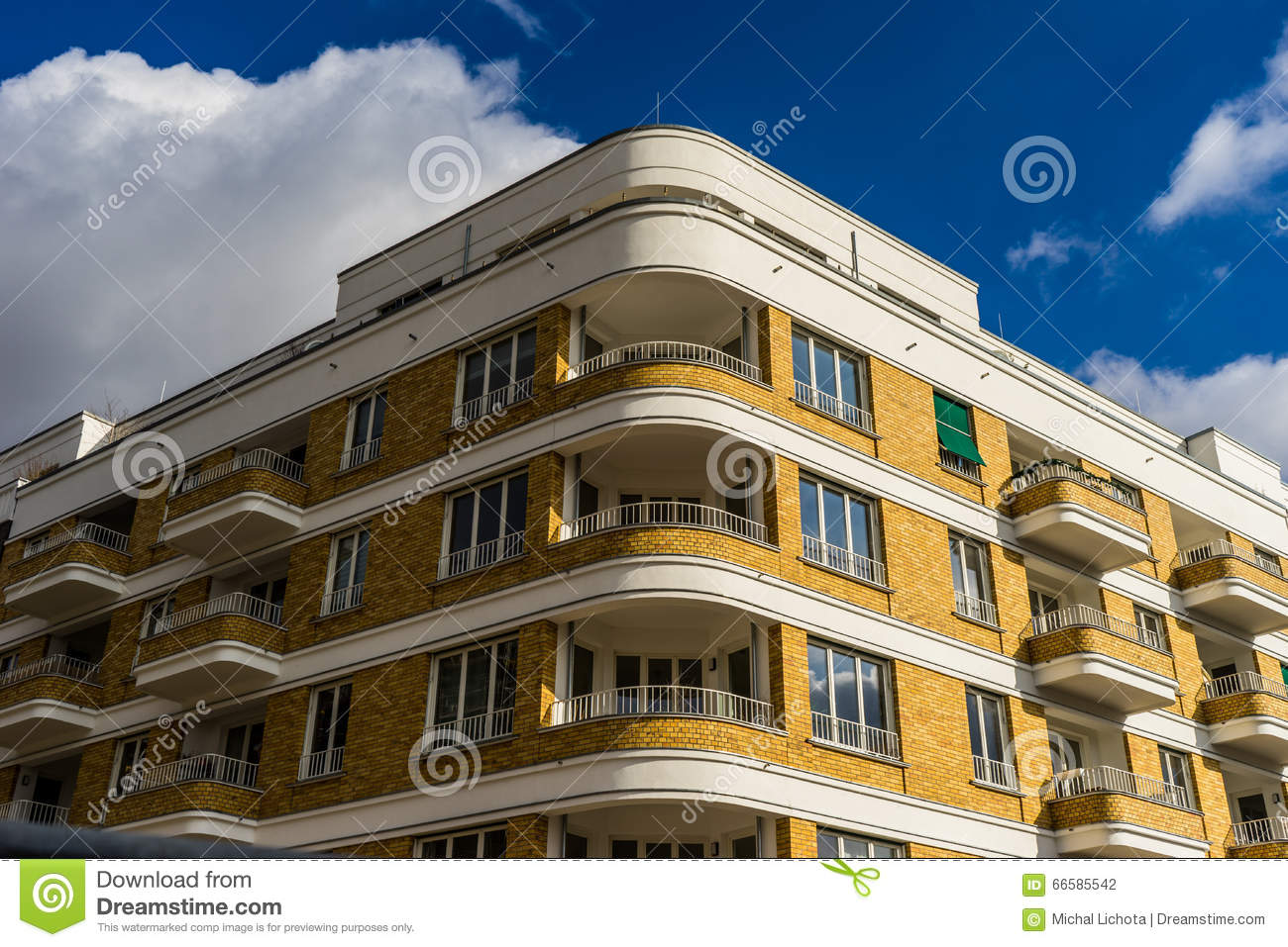 Streamline moderne style building stock photo image 66585542 for Moderne deco