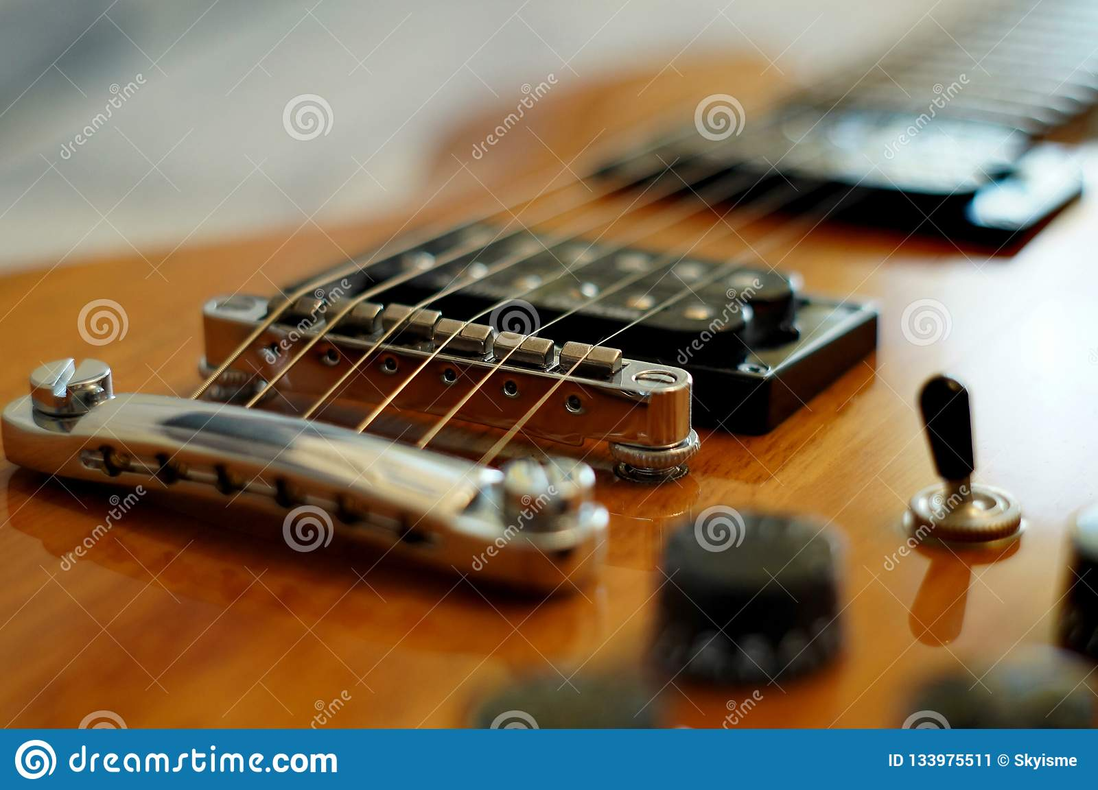 streams and bridges closeup shot of washburn idol wi 64 electric guitar with tune o matic. Black Bedroom Furniture Sets. Home Design Ideas