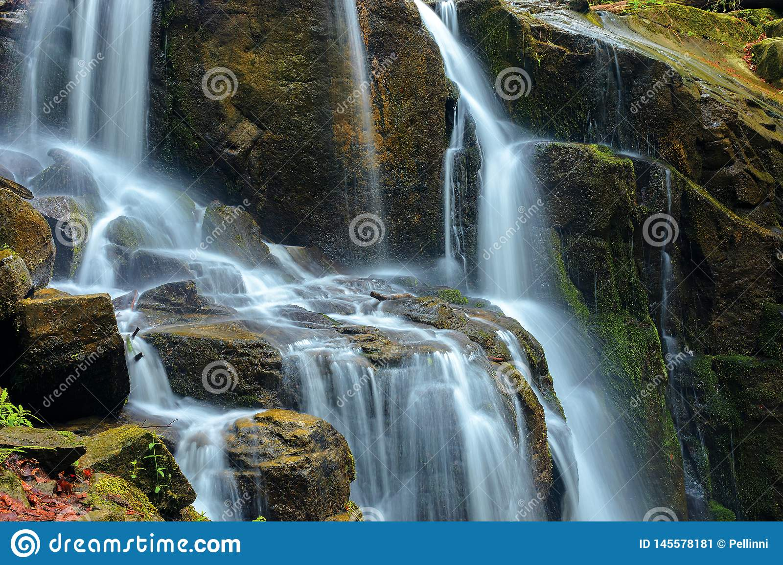 Streams and cascades of waterfall