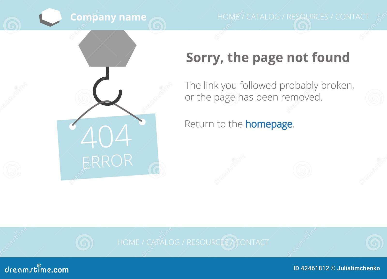 Strecken einer Mitteilung über Seiten-nicht gefundenen Fehler 404