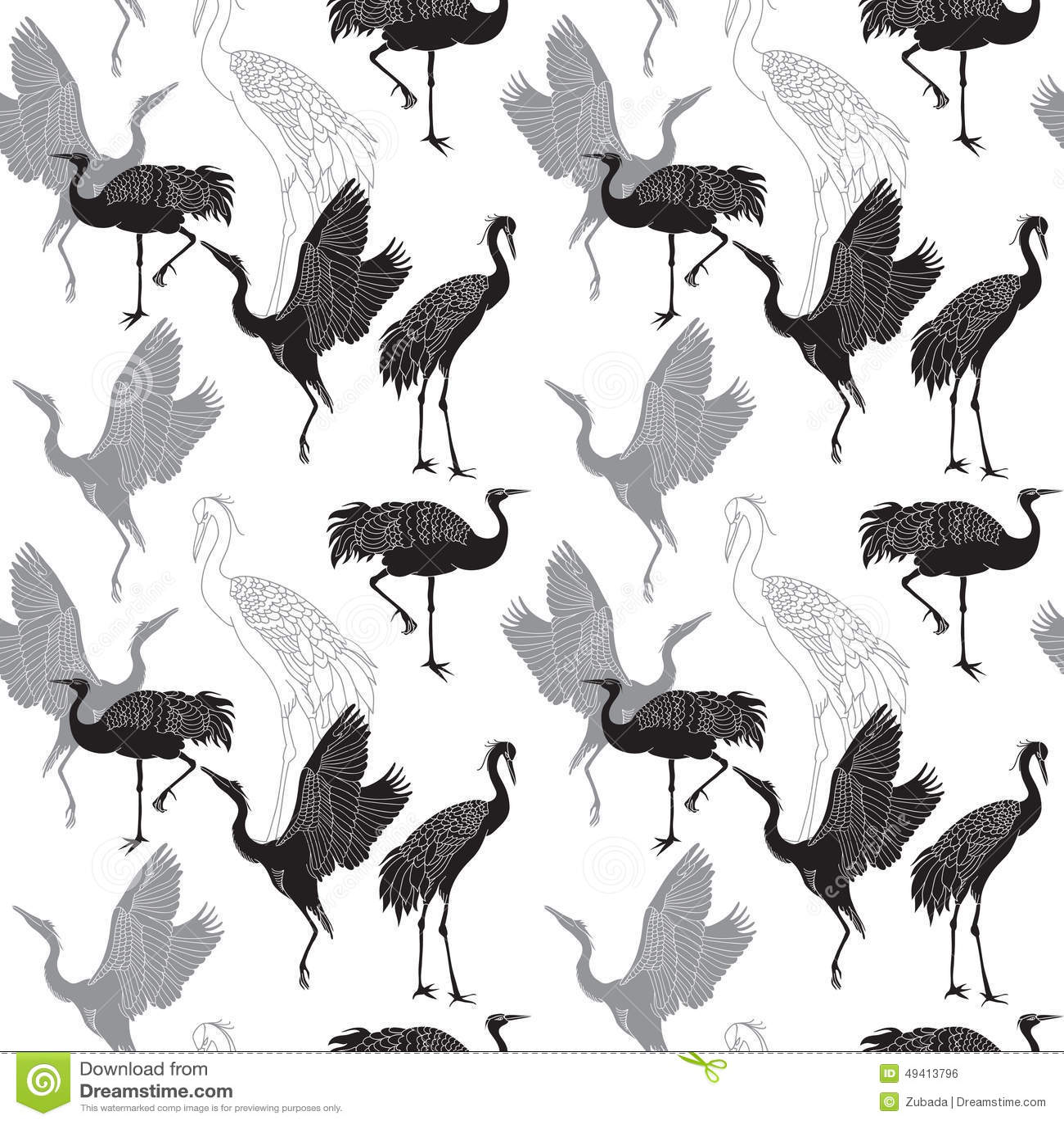 Download Streckt Nahtloses Muster Der Vögel Vektor Abbildung - Illustration von japan, nave: 49413796