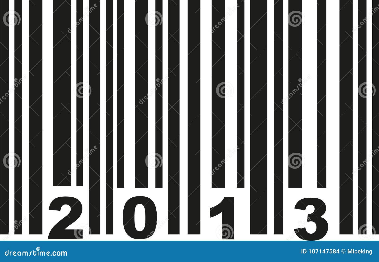 Streepjescode 2013 vector