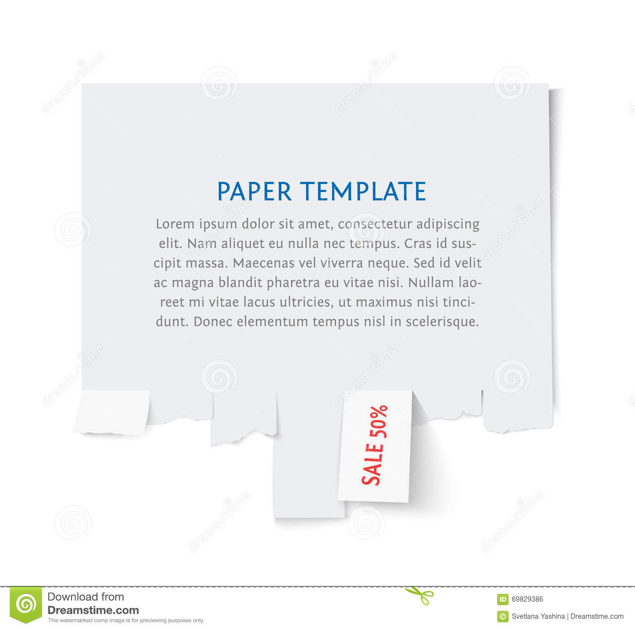 for sale template with tear offs