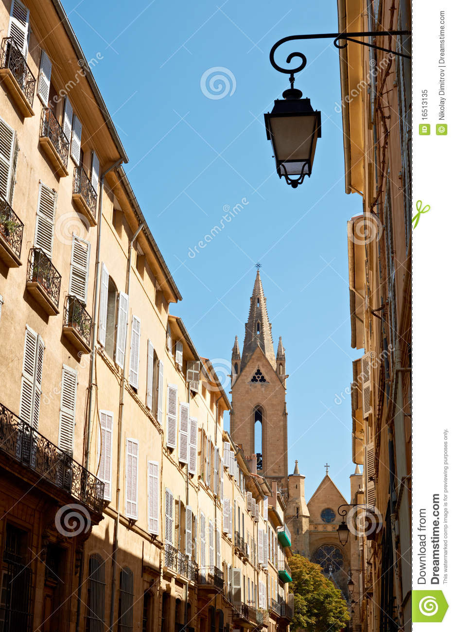 street architecture in aix en provence royalty free stock photo image 16513135. Black Bedroom Furniture Sets. Home Design Ideas