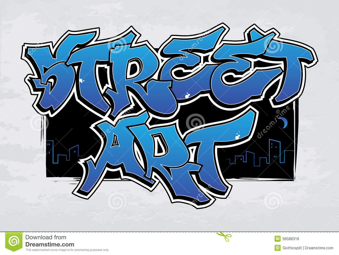 Street Art - graffiti stock vector. Illustration of color ...