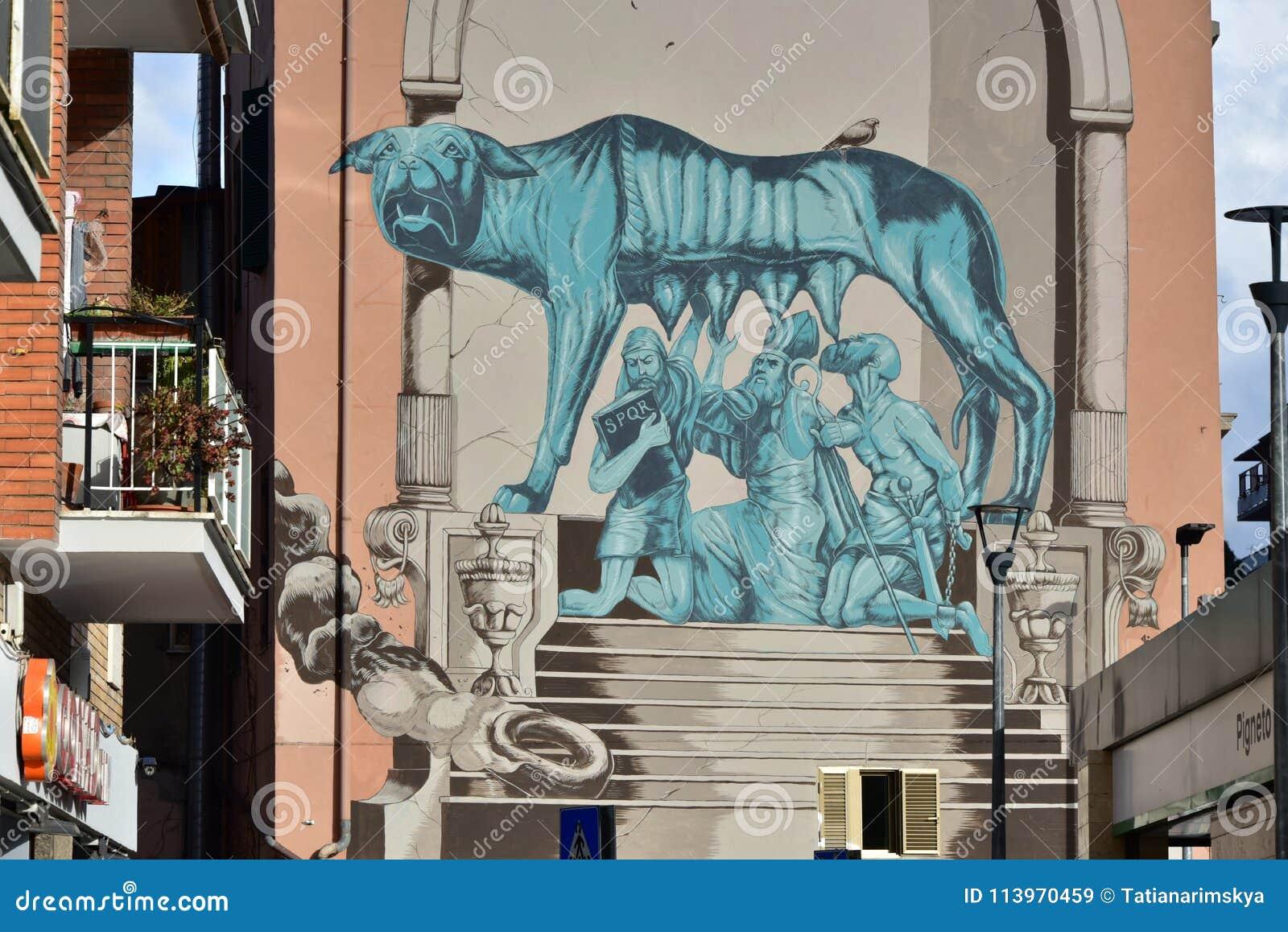 Street Art And Graffiti In Rome Pigneto District