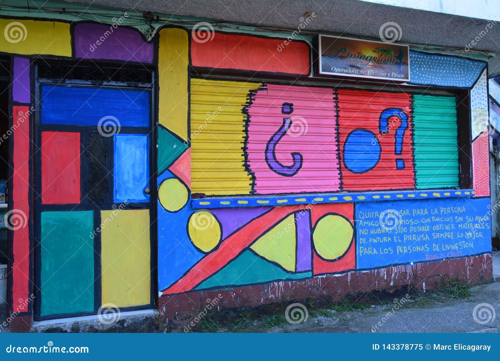 Street Art in Livingston Izabal Guatemala