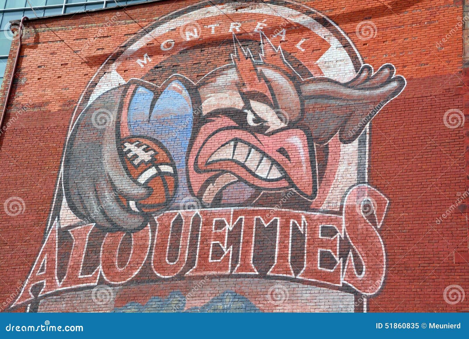 Street art Montreal Alouettes