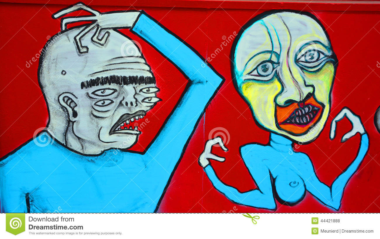 Download Street art Montreal editorial stock photo. Image of face - 44421888