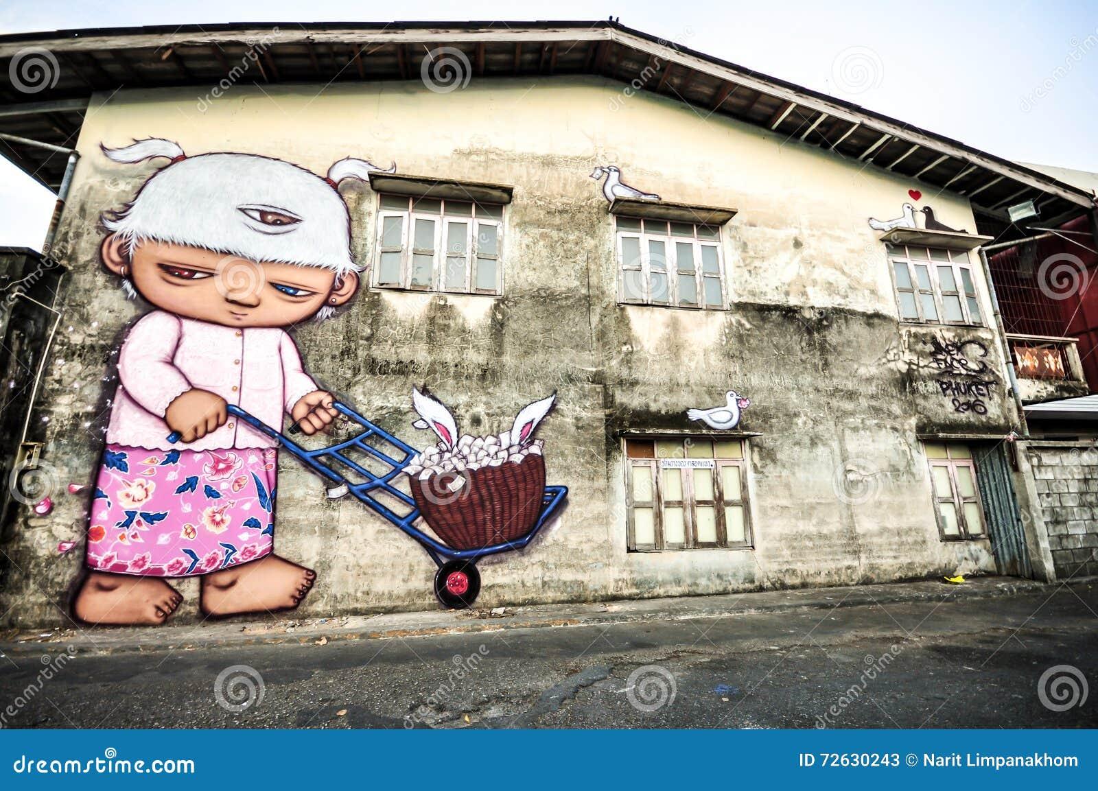 Street art phuket town 100
