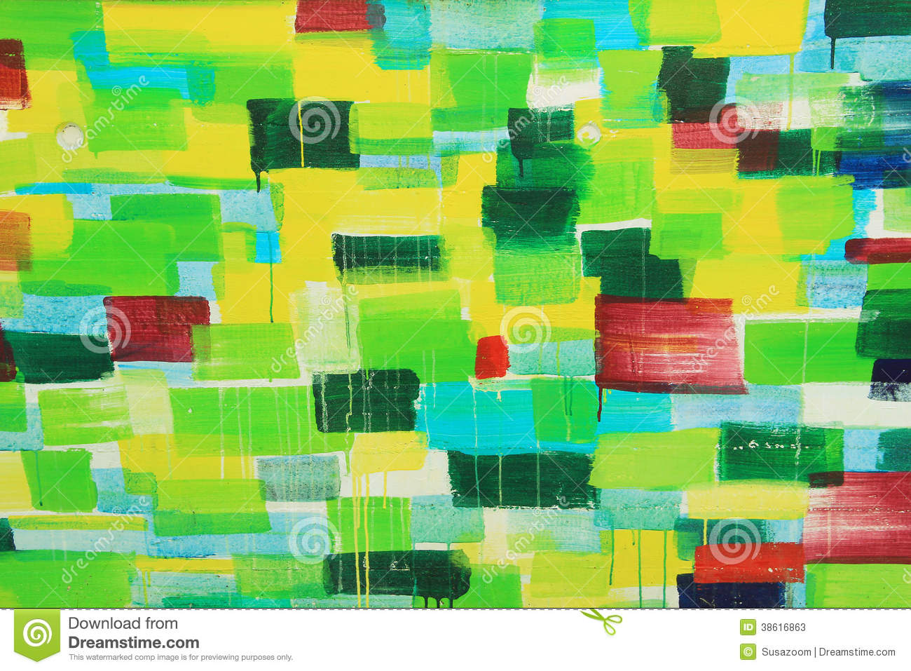 street art wall painting in shades of green stock photos image