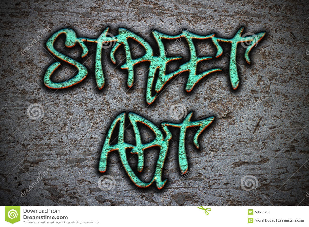 Street Art Stock Illustration - Image: 59605736