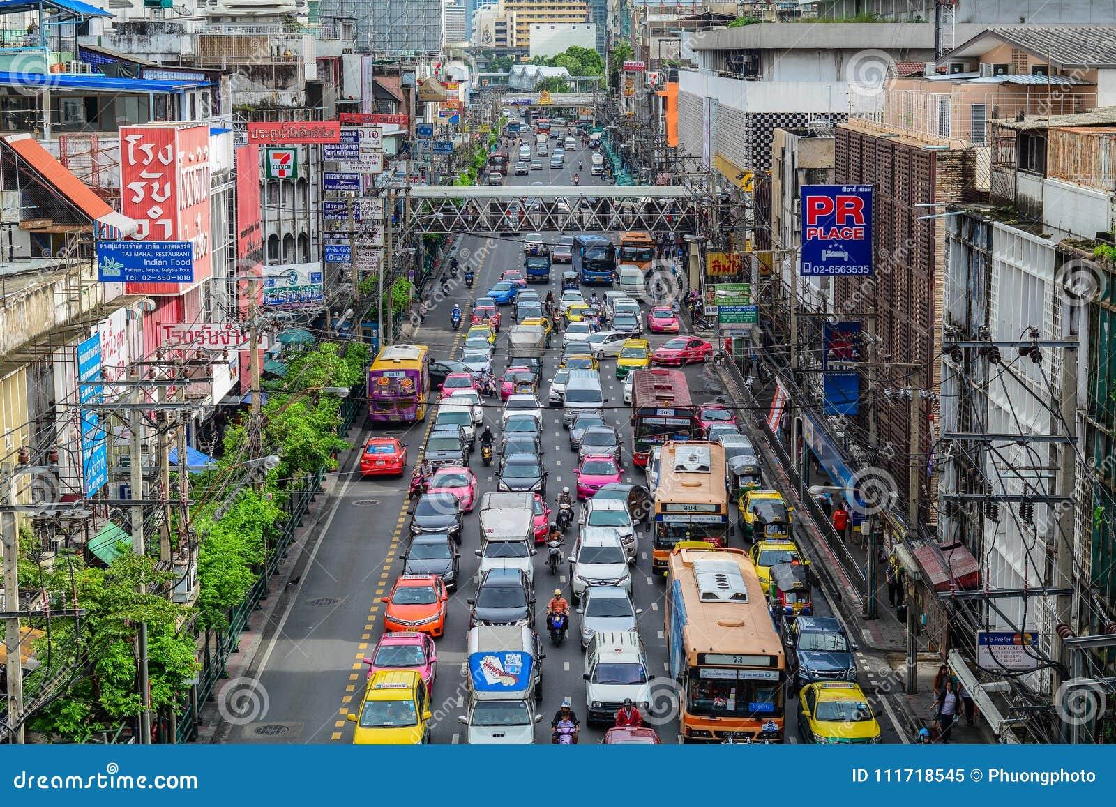 Street Of Bangkok, Thailand Editorial Image - Image of