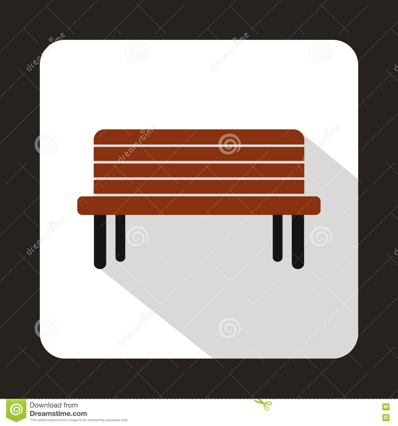 Street bench icon flat style stock vector image 81984282 street bench icon flat style biocorpaavc