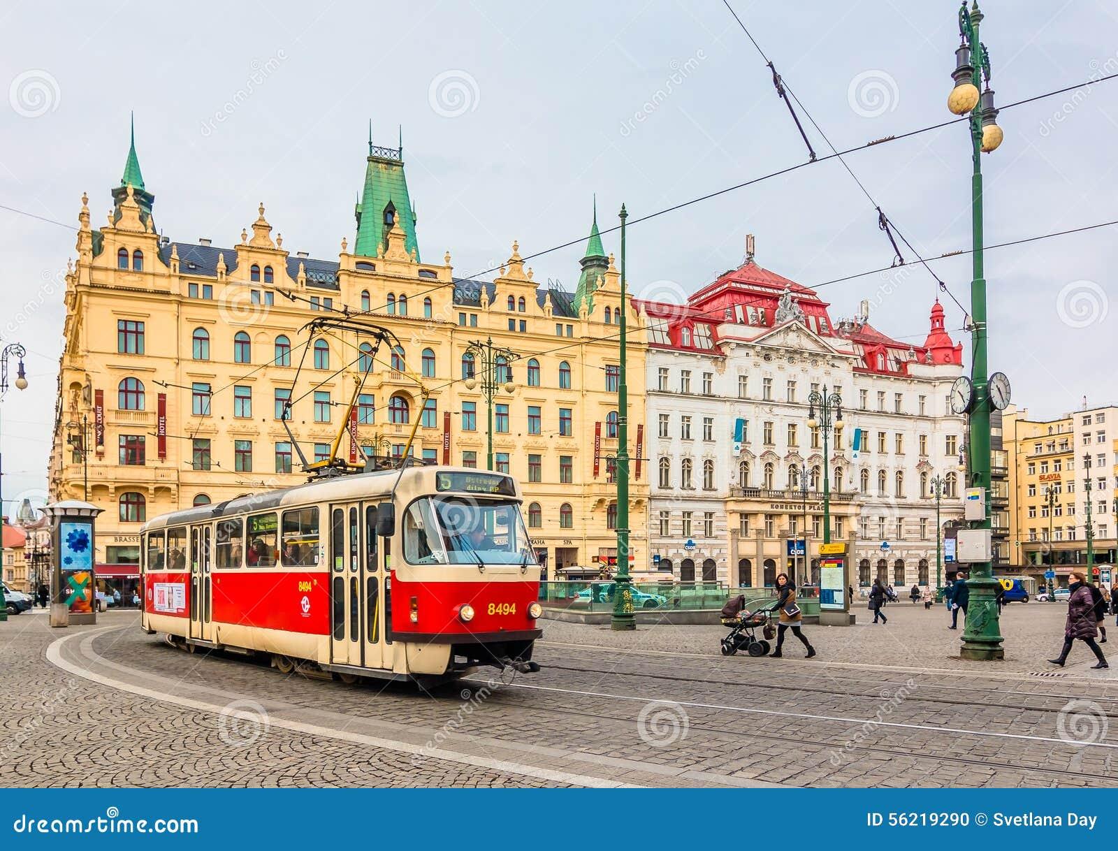 old tram prague street - photo #43
