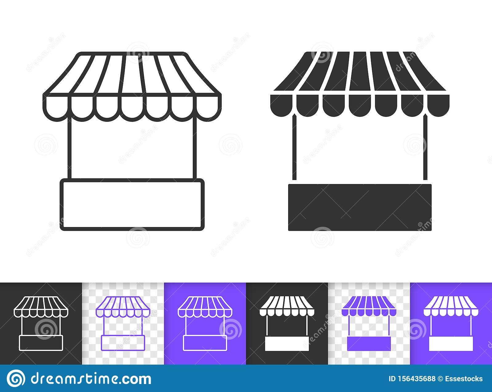 Vendors In A Street Market In Thailand Stock Vector - Illustration of  illustration, city: 182265519