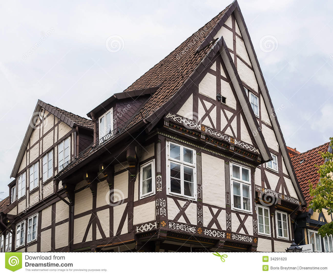 Street in celle germany stock photo image 34291620 for Half timbered house plans