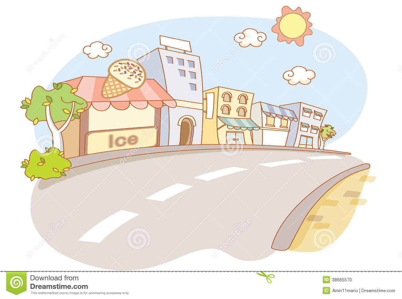 Street And City Cartoon Stock Photo - Image: 38665570