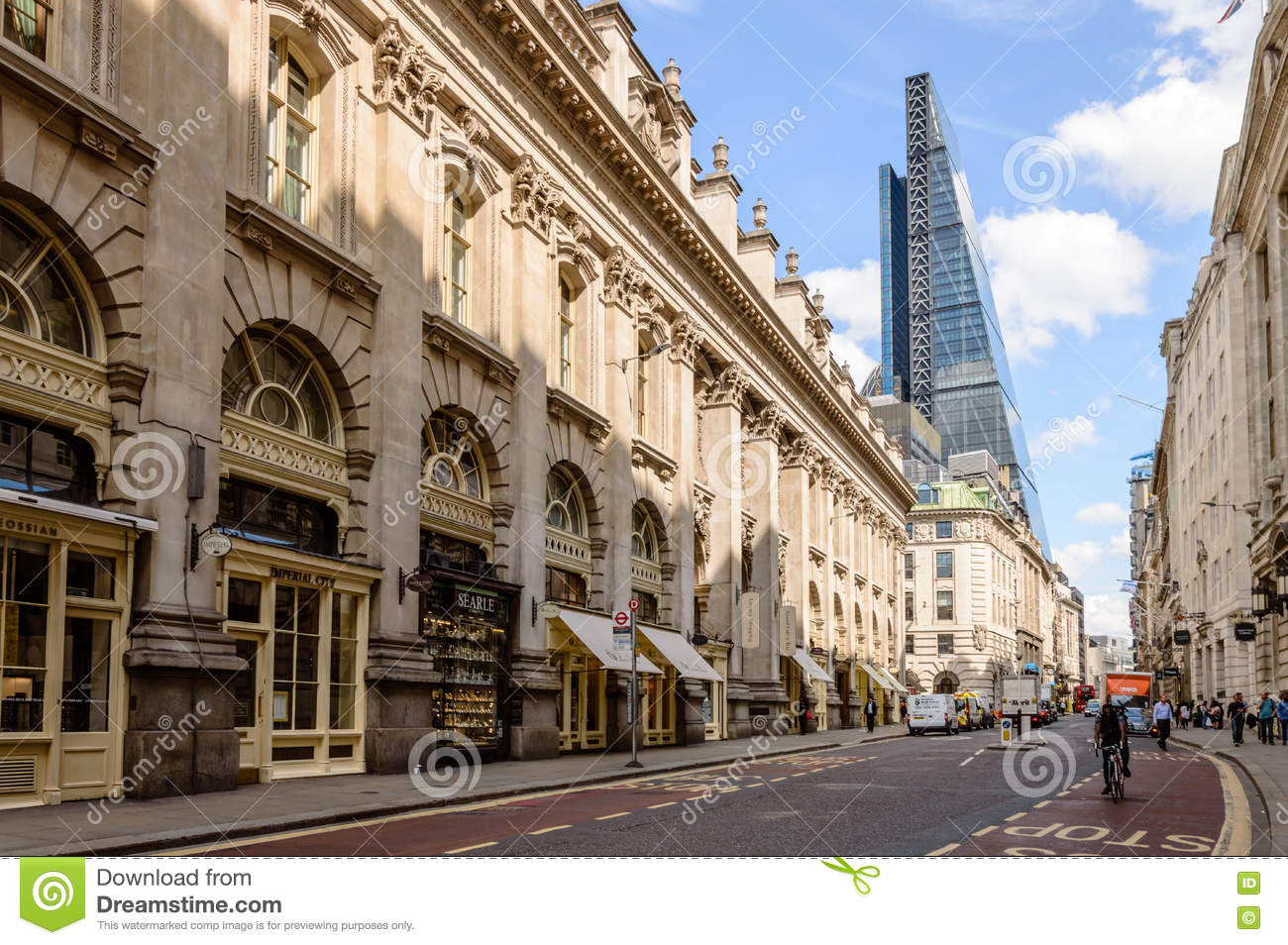 Street In The City Of London Editorial Stock Image - Image