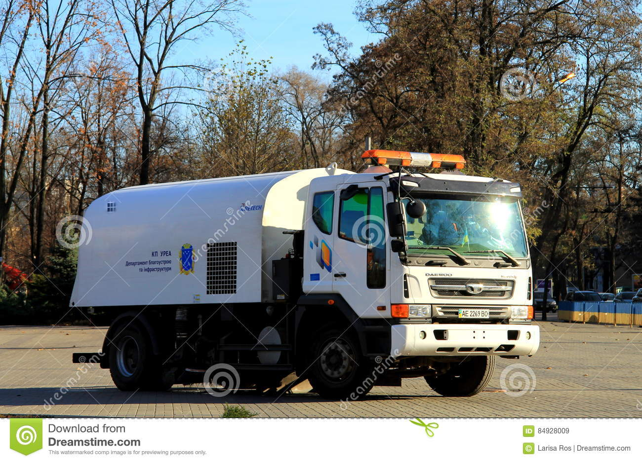 Street Sweeper Vehicle Editorial Image