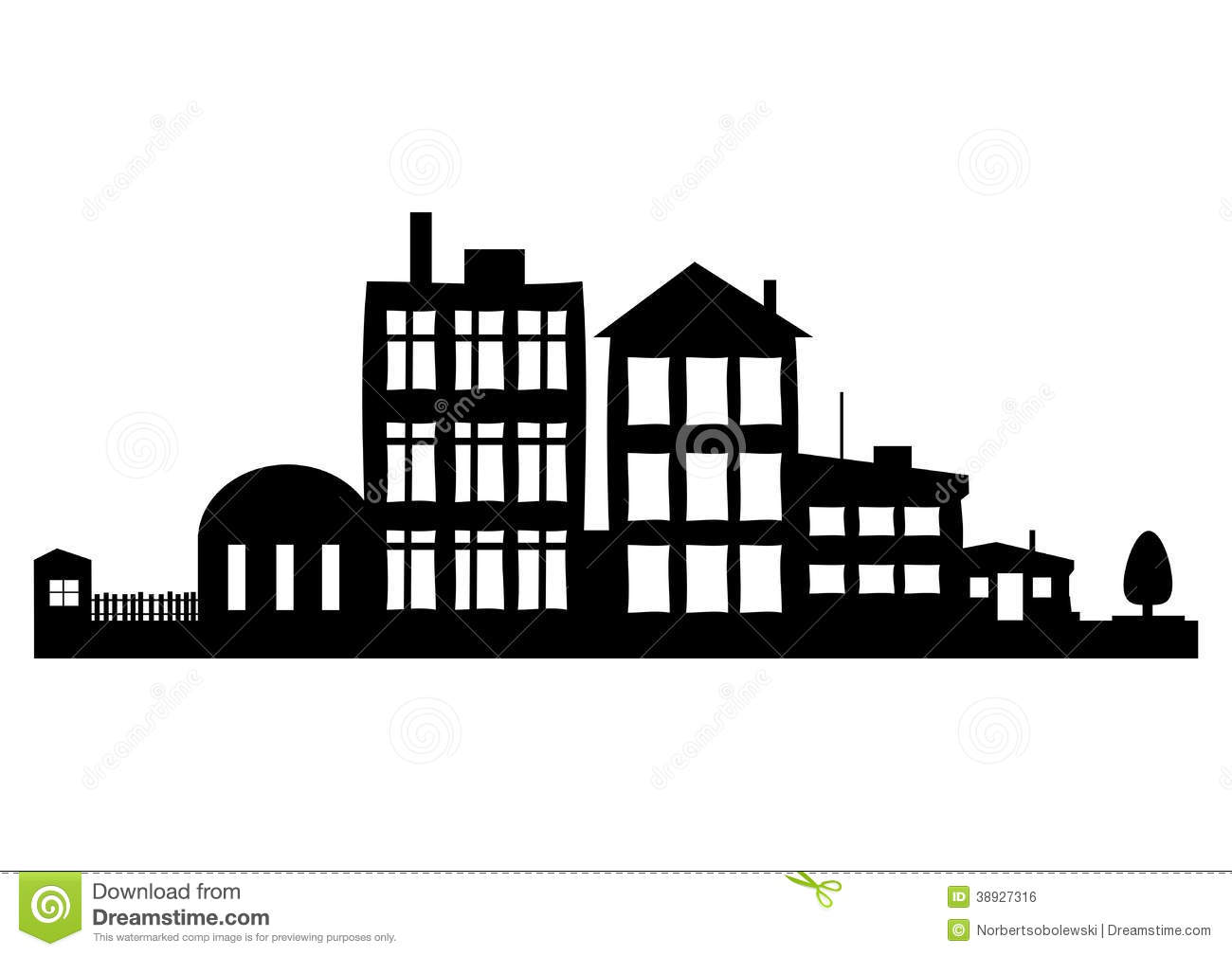 Street Stock Vector Illustration Of Downtown Black