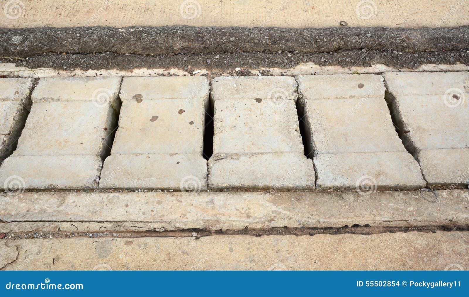 Street Concrete Or Cement Drain Grate Stock Photo Image