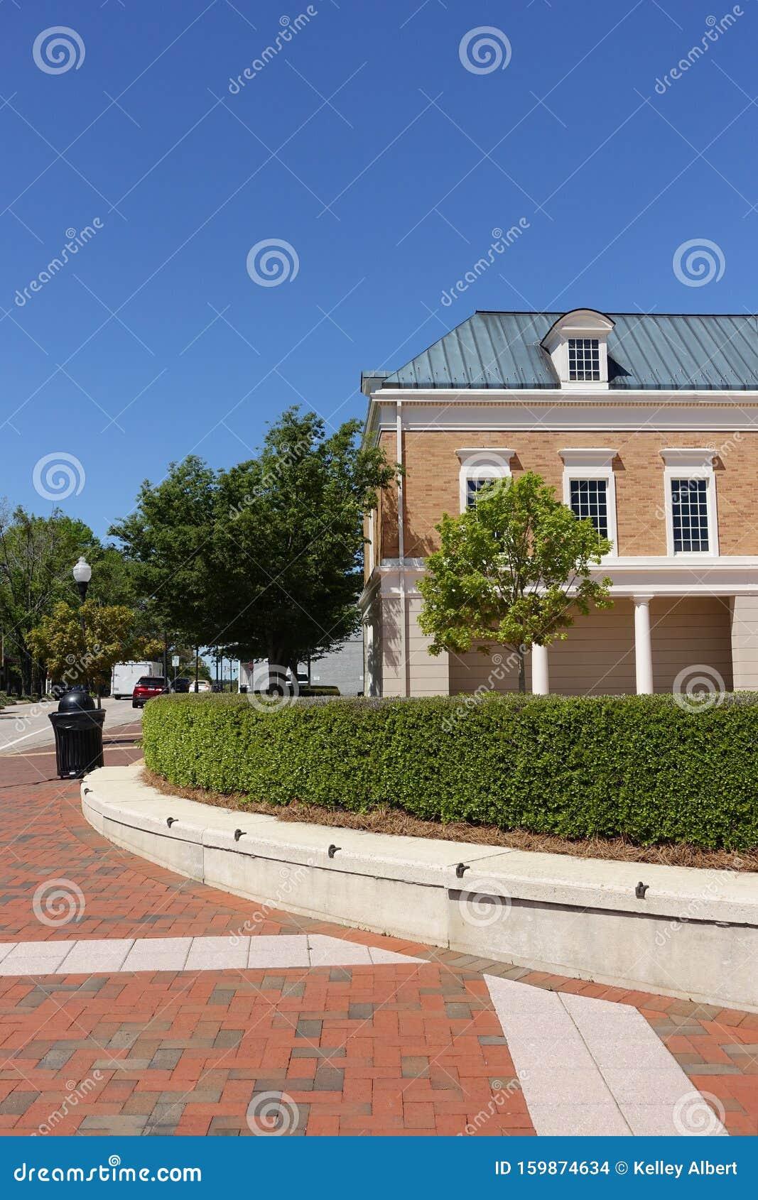 Street Corner in Downtown Cary, North Carolina