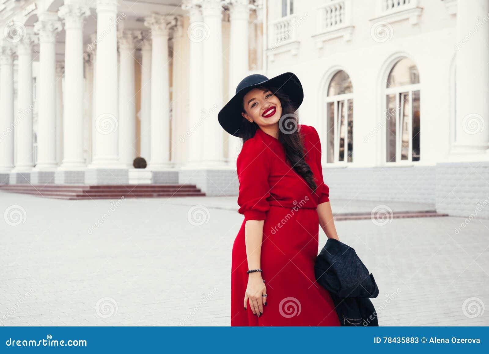 Street Fashion, Plus Size Model Stock Image - Image of ...
