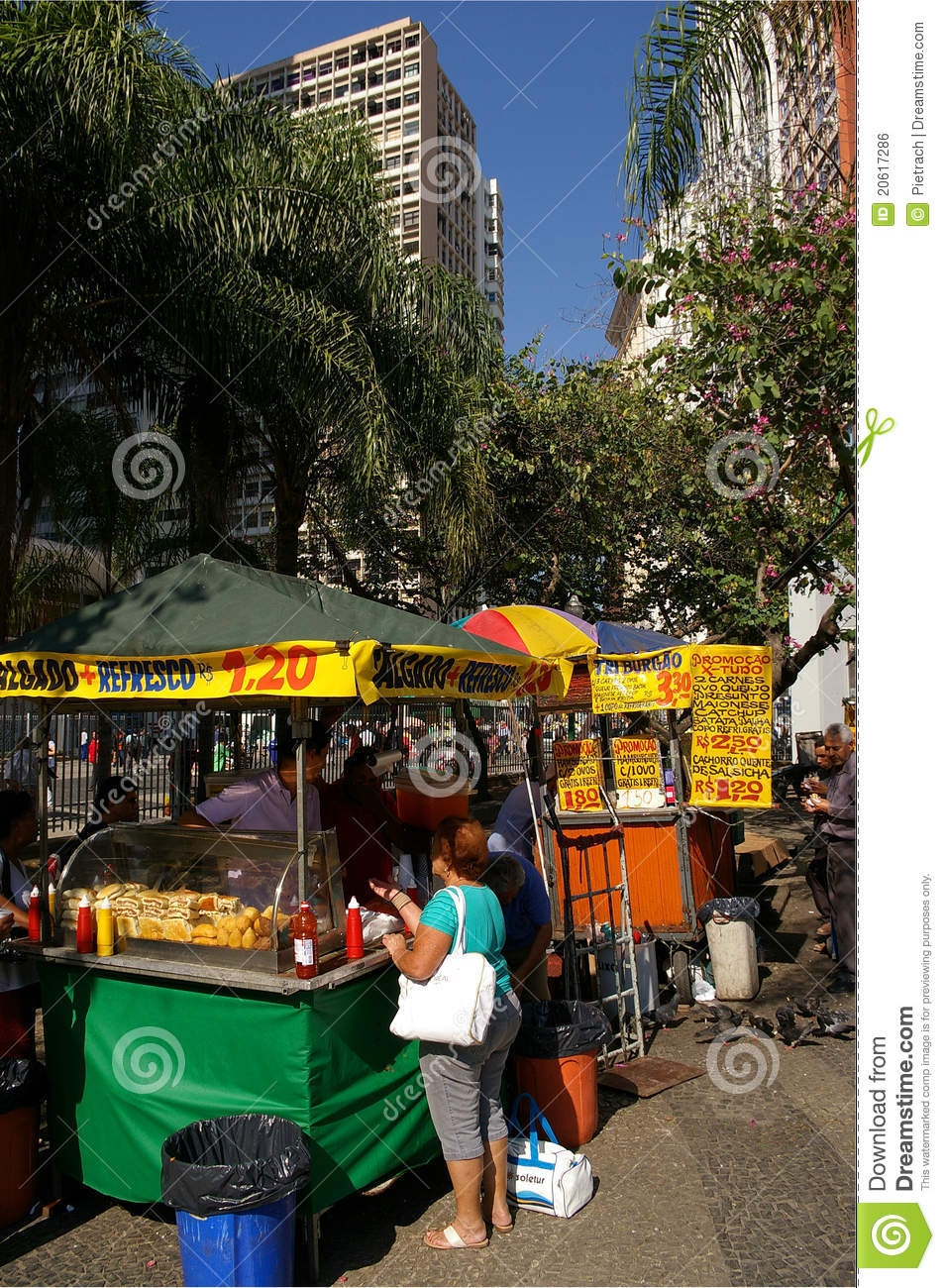 Street Fast Food Stall Editorial Photo Image Of Crowdy