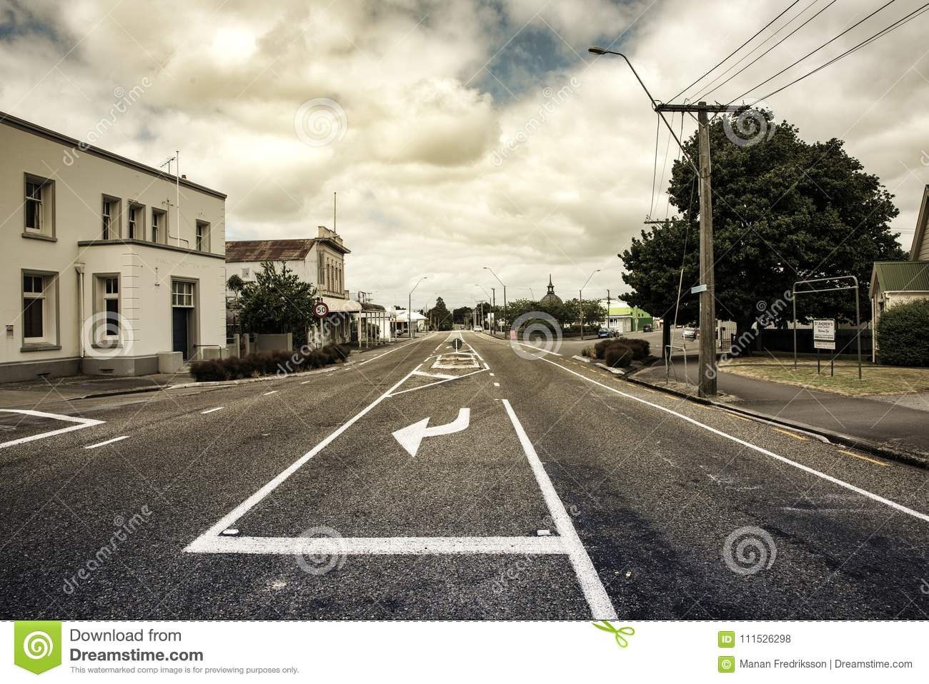 Street In Featherston Wairarapa New Zealand Editorial Stock Photo