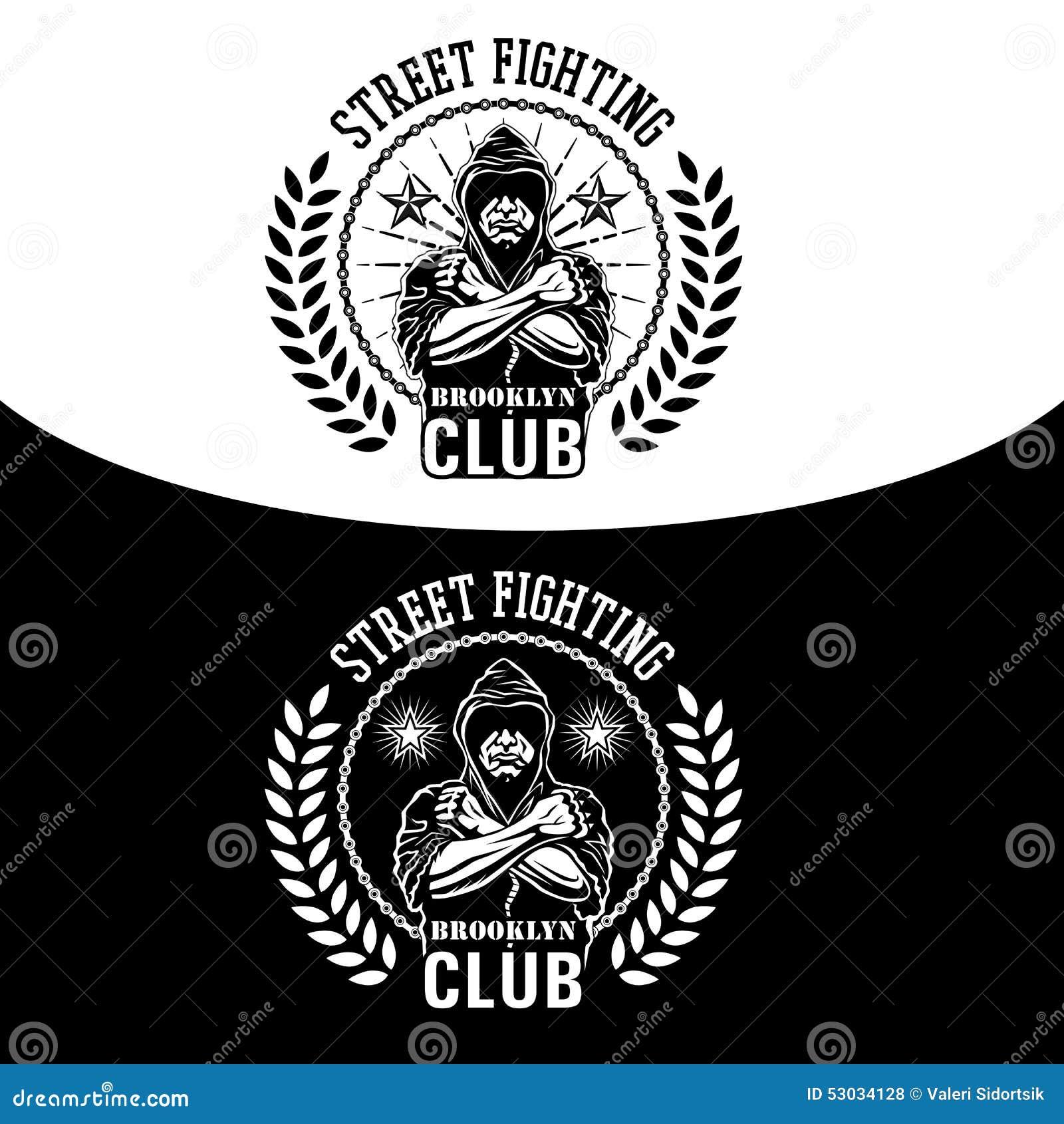 Street Fight Emblem Stock Vector Illustration Of Emblem 53034128