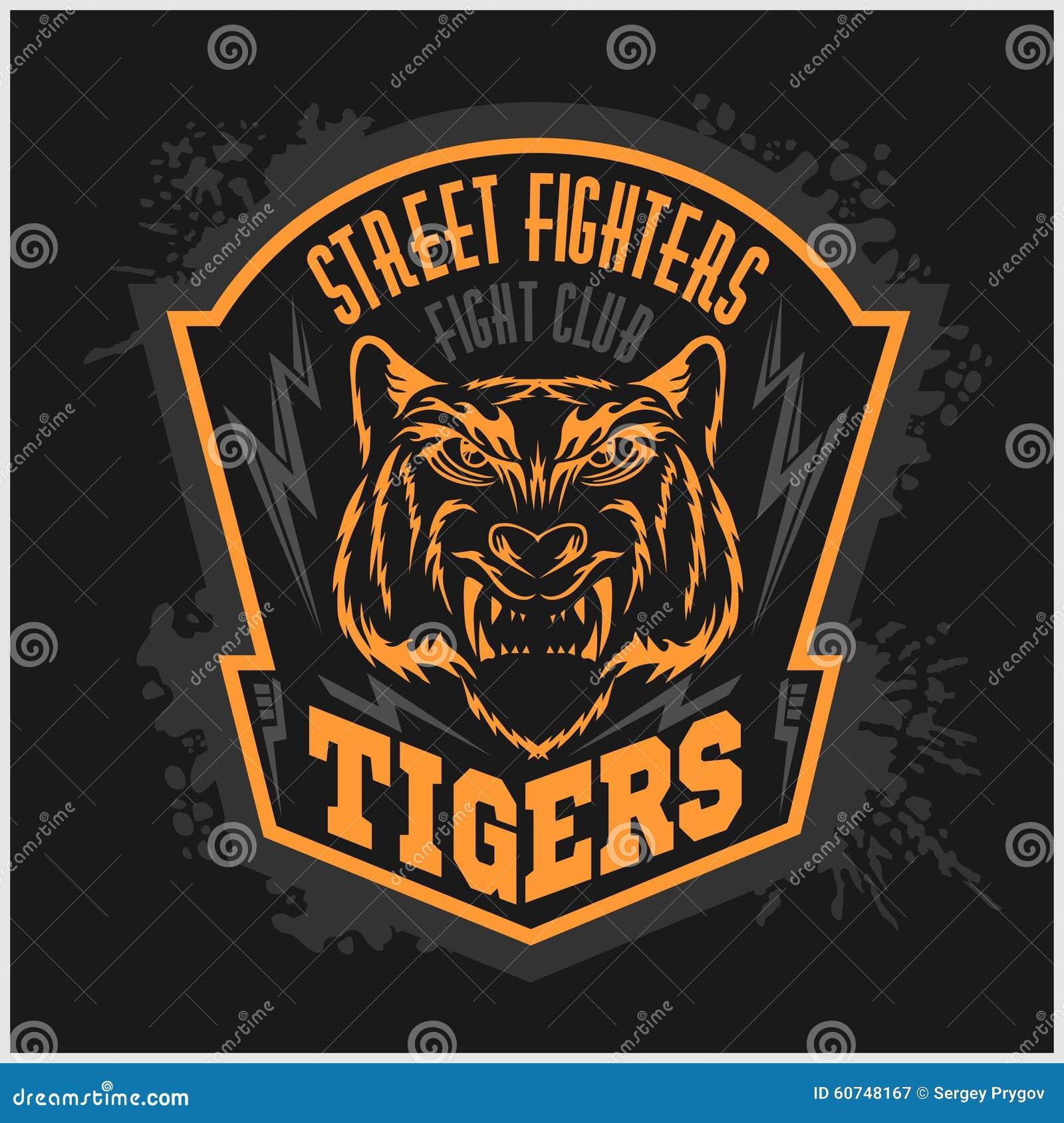 Street fighters - Fighting club emblem on dark