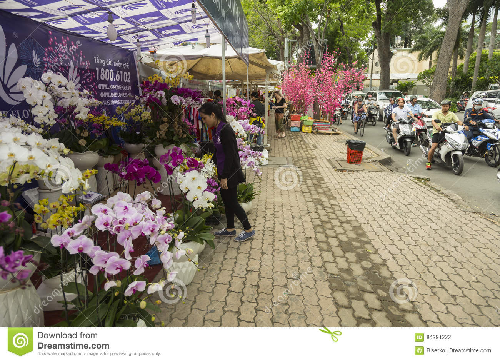 Flower Market In City Street Royalty Free Stock Image