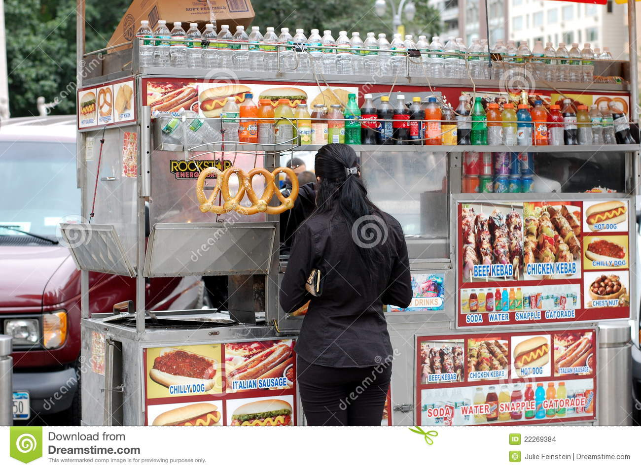 Street Food Cart In Ne...