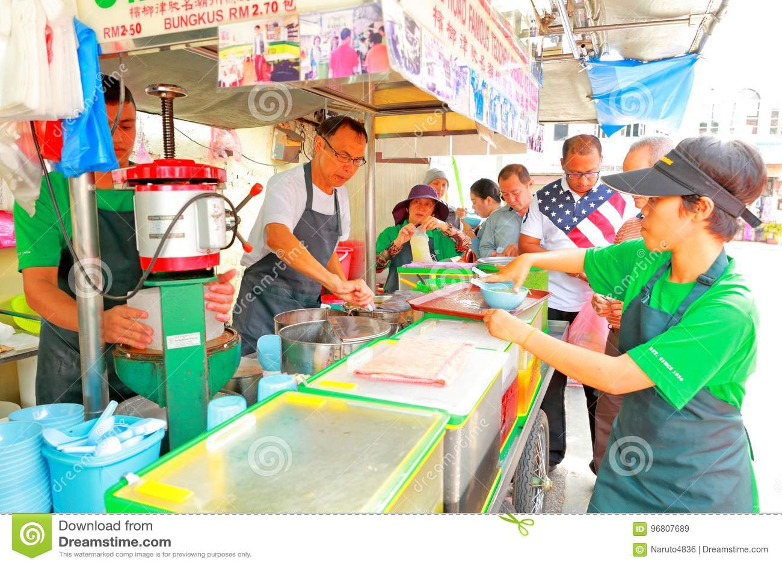 Street Food In Malaysia Penang Editorial Stock Image - Image