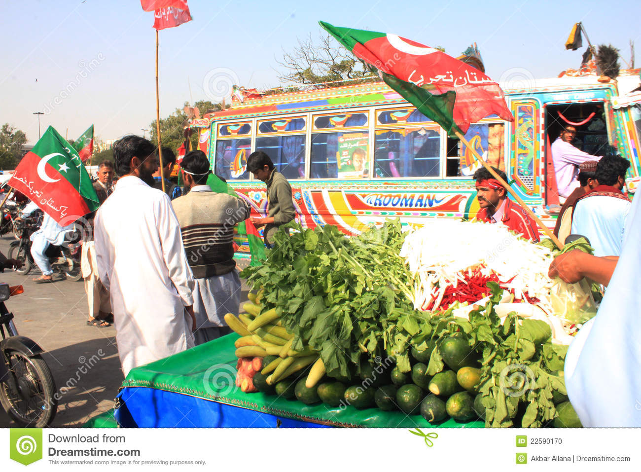 Street Food Outside Pti Rally In Karachi Pakistan Stock Photo