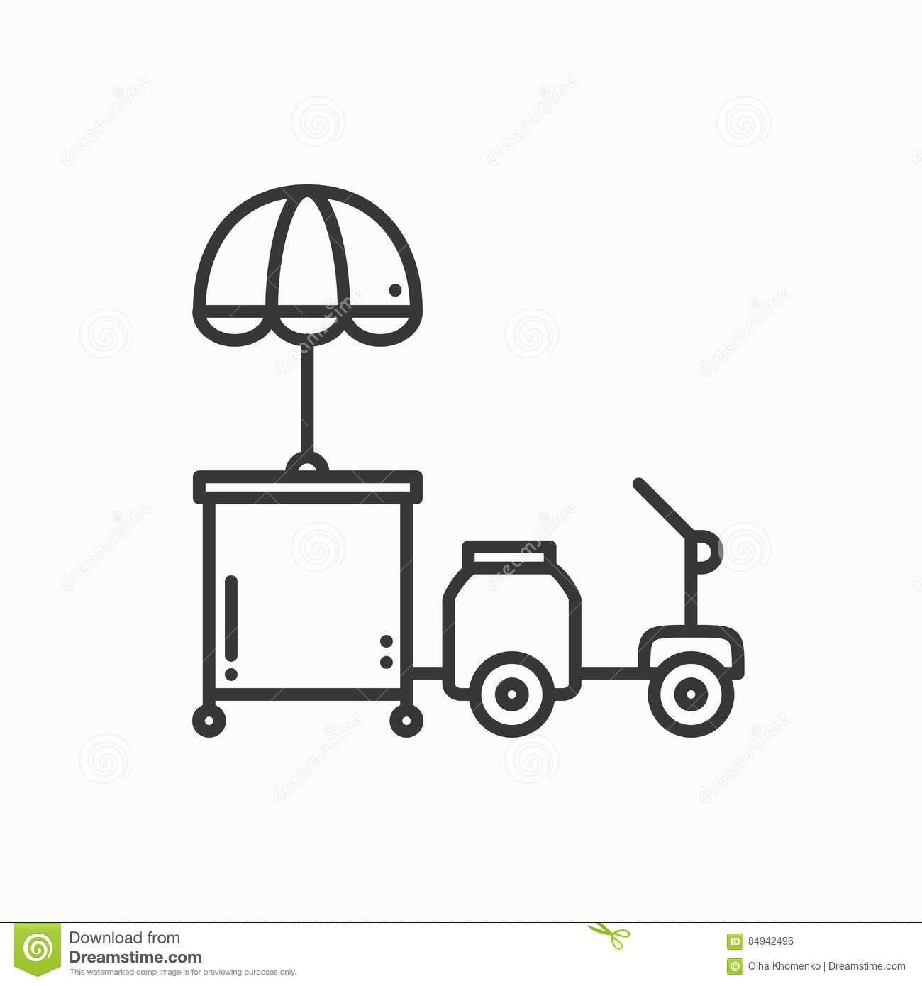 street food retail thin line icon tricycle trade cart fast food trolley motorcycle motorbike wheel shop mobile kiosk stall vector 84942496 street food retail thin line icon tricycle trade cart fast food