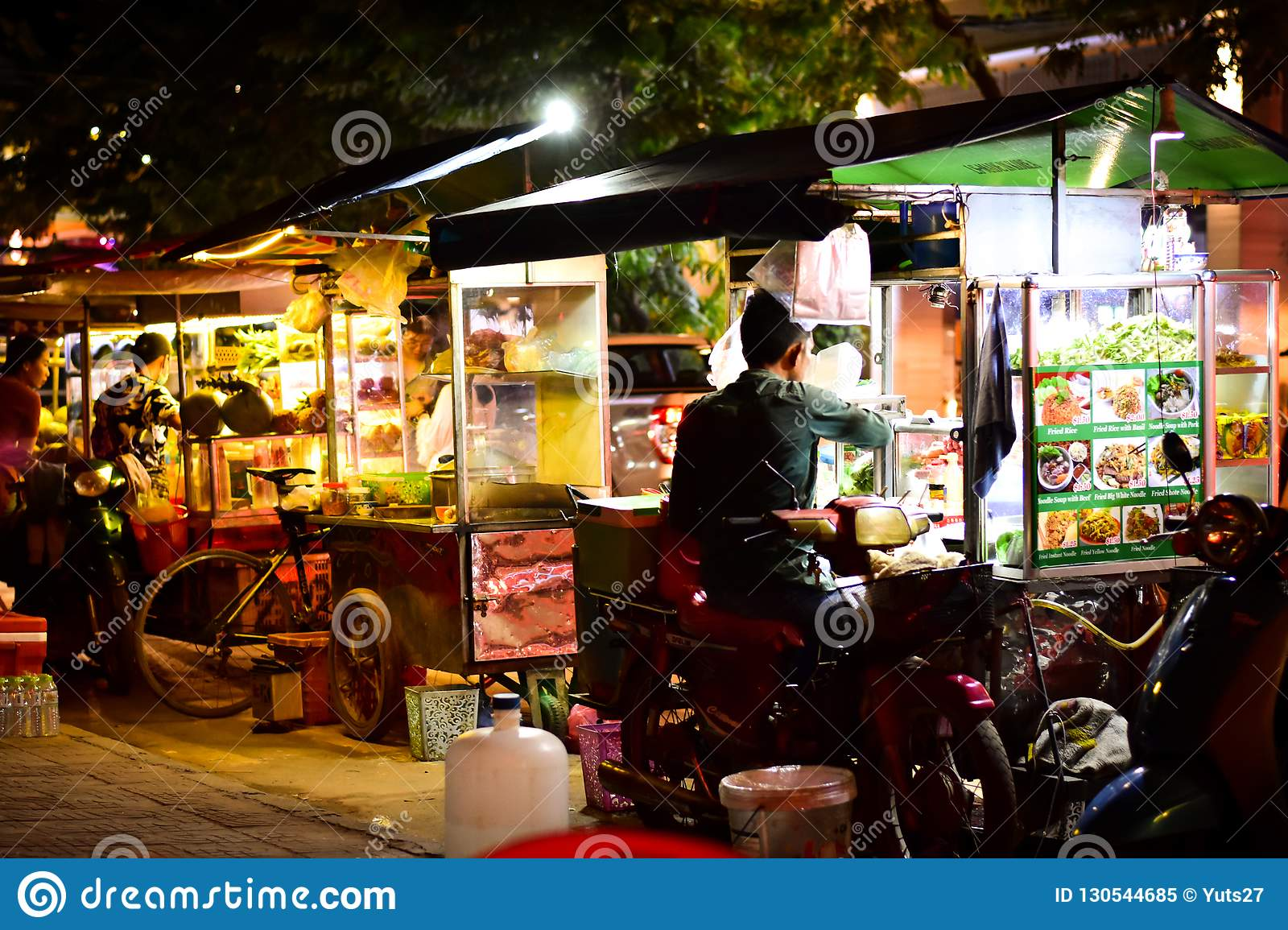 Street Food Beside The Road Of Cambodia Editorial Image