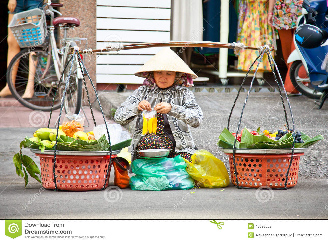 street food vendor in the street of ho chi minh vietnam editorial photography image 43326557. Black Bedroom Furniture Sets. Home Design Ideas